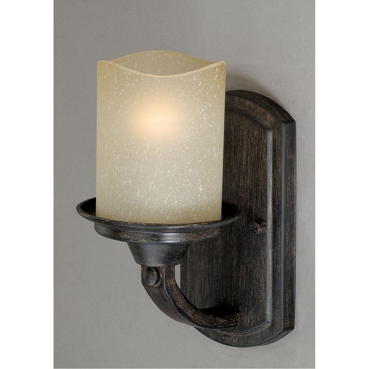 Vaxcel W0146 Halifax 1 Light 7 Inch Black Walnut Bathroom