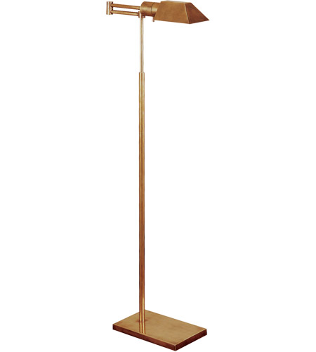 Visual Comfort Studio 1 Light Swing-Arm Floor Lamp in Hand-Rubbed Antique Brass 81134HAB photo