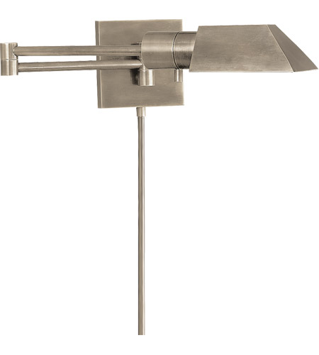 visual comfort 82034an studio 24 inch 40 watt antique nickel swingarm wall sconce wall light