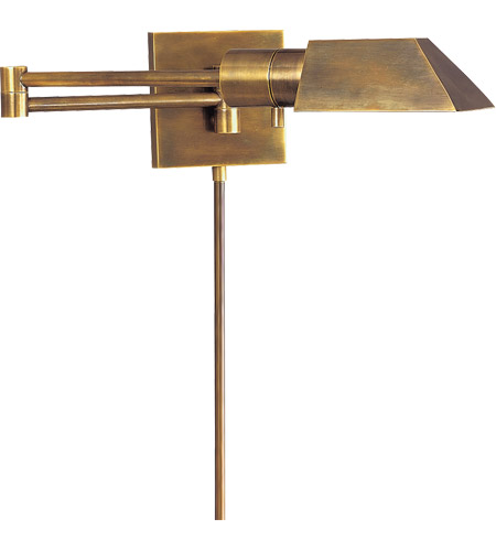 Studio 24 Inch 40 Watt Hand Rubbed Antique Br Swing Arm Wall Light