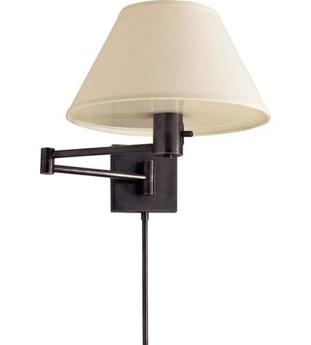 Visual Comfort 92000DBZ-L Studio Classic 25 inch 75 watt Bronze Swing-Arm Wall Light in Linen  photo