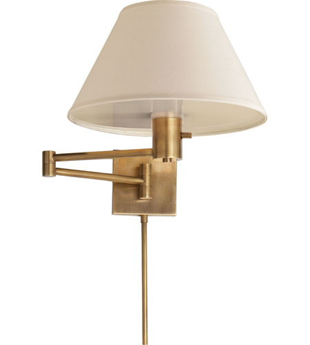 Visual comfort 92000dhab l studio classic 25 inch 75 watt hand rubbed antique brass swing arm Beautiful swing arm wall lamps and sconces