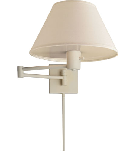 Visual Comfort Studio Classic 1 Light Swing-Arm Wall Light in Plaster White 92000DWHT-L photo