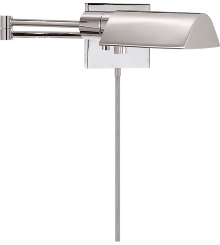 Visual Comfort Studio 1 Light Swing-Arm Wall Light in Polished Nickel 92025PN photo