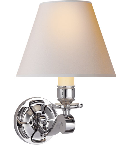 Visual Comfort AH2004PN-NP Alexa Hampton Bing 1 Light 8 inch Polished Nickel Decorative Wall Light photo