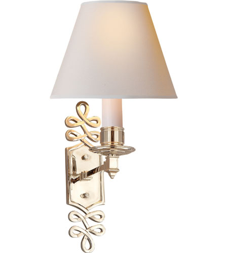 Visual Comfort Alexa Hampton Ginger 1 Light Decorative Wall Light in Polished Nickel AH2010PN-NP photo