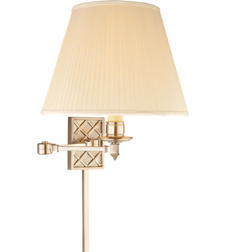 Visual Comfort Alexa Hampton Gene 1 Light Swing-Arm Wall Light in Brushed Nickel AH2012BN-S photo