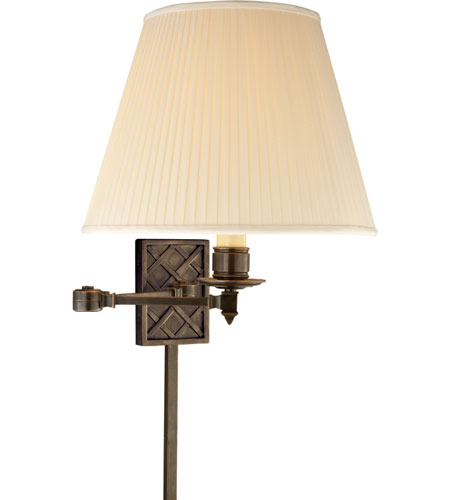 Visual Comfort AH2012GM-S Alexa Hampton Gene 20 inch 100 watt Gun Metal with Wax Swing-Arm Wall Light photo