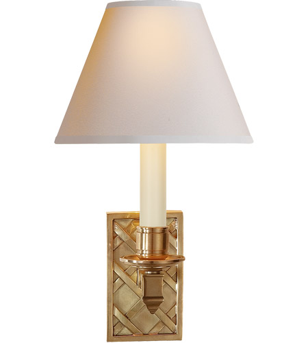 Visual Comfort AH2013NB-NP Alexa Hampton Gene 1 Light 7 inch Natural Brass Decorative Wall Light photo