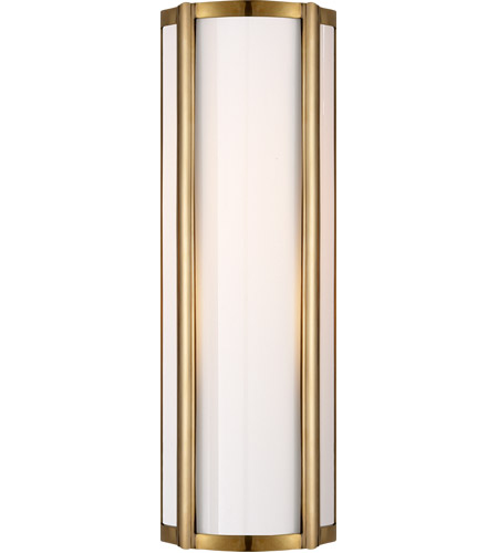 Visual Comfort AH2023NB-WG Alexa Hampton Basil 1 Light 6 inch Natural Brass Bath Wall Light photo