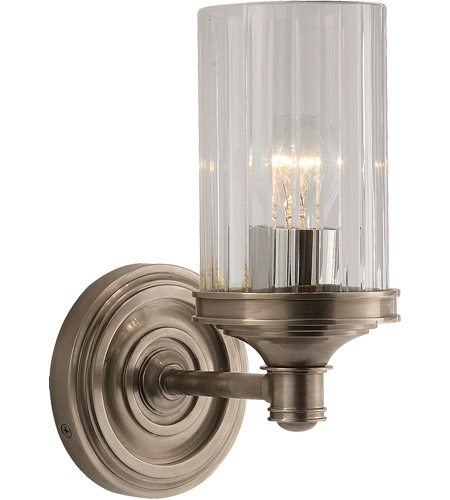 Visual Comfort AH2200AN-CG Alexa Hampton Ava 1 Light 5 inch Antique Nickel Bath Wall Light photo