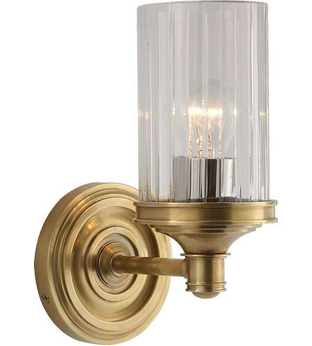 Visual Comfort AH2200HAB-CG Alexa Hampton Ava 1 Light 5 inch Hand-Rubbed Antique Brass Bath Wall Light photo