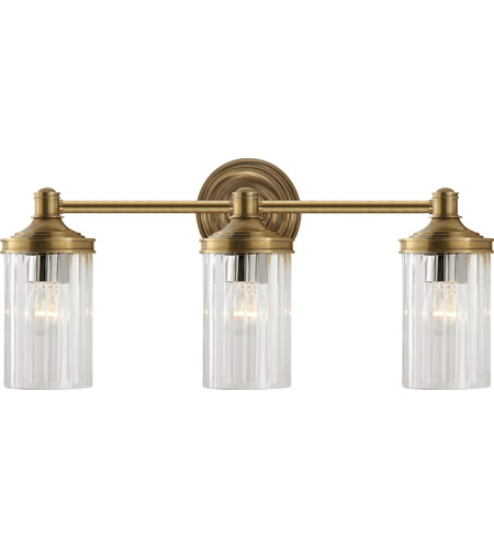 Visual Comfort AH2202HAB-CG Alexa Hampton Ava 3 Light 20 inch Hand-Rubbed Antique Brass Bath Wall Light photo