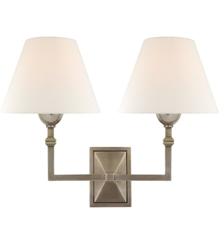 Visual Comfort AH2320AN-L Alexa Hampton Jane 2 Light 13 inch Antique Nickel Double Sconce Wall Light photo