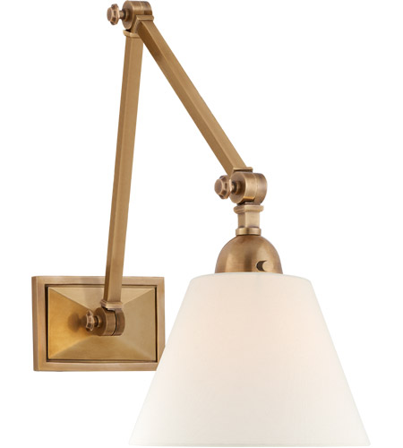 Visual Comfort AH2330HAB-L Alexa Hampton Jane 1 Light 8 inch Hand-Rubbed Antique Brass Double Library Wall Light photo