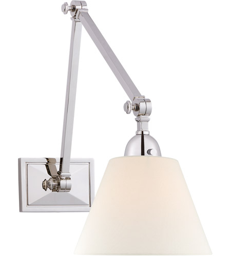 Visual Comfort AH2330PN-L Alexa Hampton Jane 1 Light 8 inch Polished Nickel Double Library Wall Light photo
