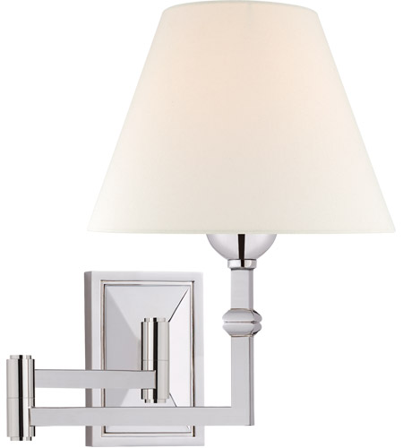 Visual Comfort AH2337PN-L Alexa Hampton Jane 23 inch 40 watt Polished Nickel Swing Arm Wall Light photo