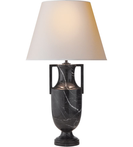 Visual Comfort AH3046BM-NP Alexa Hampton Burt 27 inch 60 watt Black Marble Decorative Table Lamp Portable Light photo