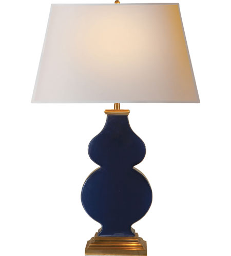 Visual Comfort AH3063MB-NP Alexa Hampton Anita 29 inch 100 watt Midnight Blue Porcelain Decorative Table Lamp Portable Light photo