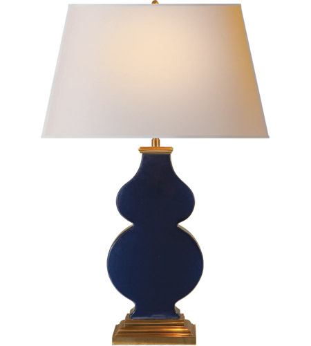 Visual Comfort AH3063MB-NP Alexa Hampton Anita 29 inch 150 watt Midnight Blue Porcelain Decorative Table Lamp Portable Light photo