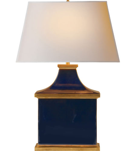 Visual Comfort Alexa Hampton Carmen 1 Light Decorative Table Lamp in Midnight Blue Porcelain  AH3073MB-NP photo