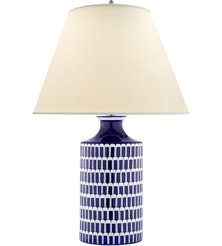 Visual Comfort AH3115BW PL Alexa Hampton Wells 31 Inch 60 Watt Blue And White  Porcelain Table Lamp Portable Light