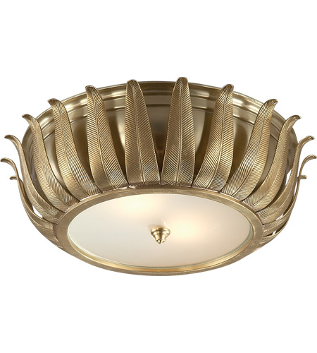 Visual Comfort AH4000NB-FG Alexa Hampton Audrey 2 Light 16 inch Natural Brass Flush Mount Ceiling Light photo