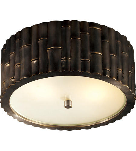 Visual Comfort AH4004GM-FG Alexa Hampton Frank 2 Light 11 inch Gun Metal Flush Mount Ceiling Light photo thumbnail