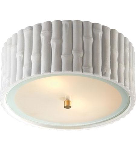 Visual Comfort Ah4004wht Fg Alexa Hampton Frank 2 Light 11 Inch Plaster White Flush Mount Ceiling