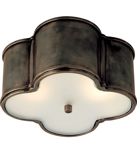 Visual Comfort Alexa Hampton Basil  Basil 2 Light Flush Mount in Gun Metal with Wax AH4014GM-FG photo