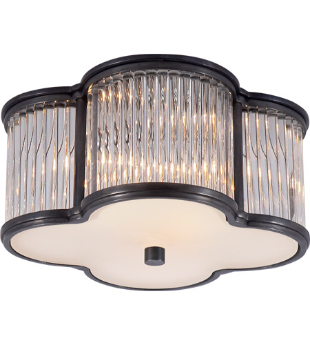 Visual Comfort AH4014GM/CG-FG Alexa Hampton Basil 2 Light 11 inch Gun Metal Flush Mount Ceiling Light in Clear Glass photo