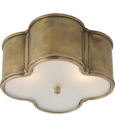 Visual Comfort AH4014NB-FG Alexa Hampton Basil 2 Light 11 inch Natural Brass Flush Mount Ceiling Light in (None) photo