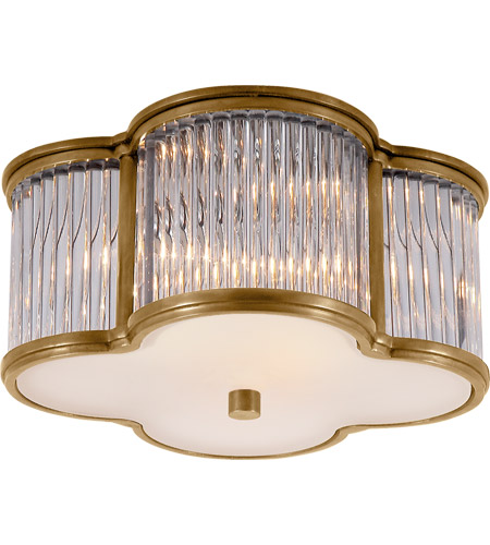 Visual Comfort AH4014NB/CG-FG Alexa Hampton Basil 2 Light 11 inch Natural Brass with Clear Glass Flush Mount Ceiling Light photo