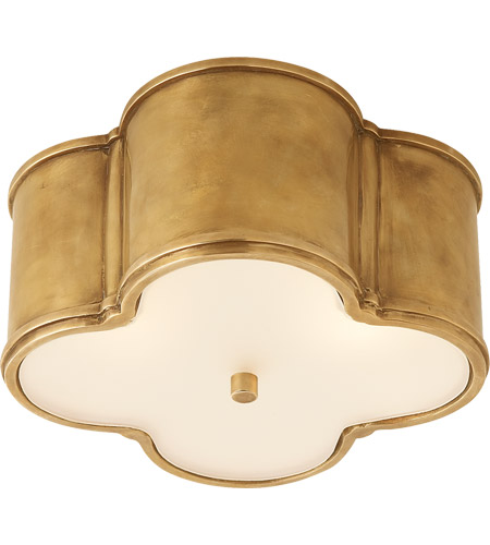 Visual Comfort AH4014NB-FG Alexa Hampton Basil 2 Light 11 inch Natural Brass Flush Mount Ceiling Light photo