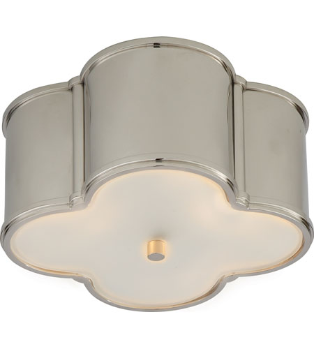 Visual Comfort AH4014PN-FG Alexa Hampton Basil 2 Light 11 inch Polished Nickel Flush Mount Ceiling Light in (None) photo