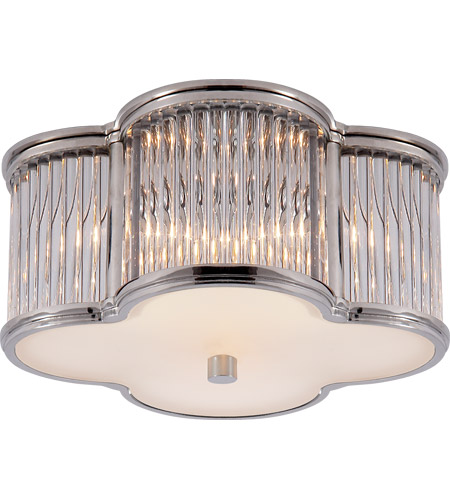 Visual Comfort AH4014PN/CG-FG Alexa Hampton Basil 2 Light 11 inch Polished Nickel with Clear Glass Flush Mount Ceiling Light photo