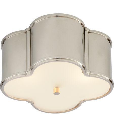 Visual Comfort AH4014PN-FG Alexa Hampton Basil 2 Light 11 inch Polished Nickel Flush Mount Ceiling Light photo