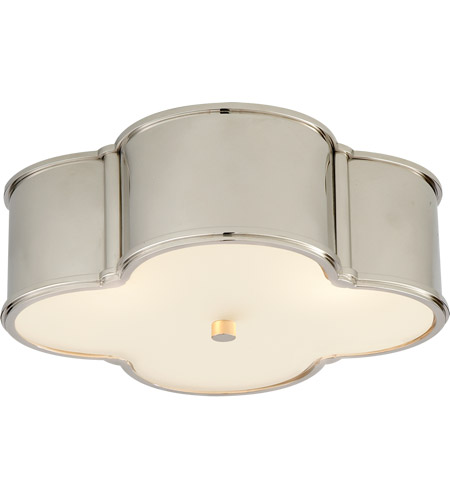 Visual Comfort AH4015PN-FG Alexa Hampton Basil 3 Light 17 inch Polished Nickel Flush Mount Ceiling Light in (None) photo