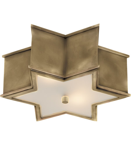 Visual Comfort Ah4016nb Fg Alexa Hampton Sophia 2 Light 14 Inch Natural Brass Flush Mount Ceiling Light