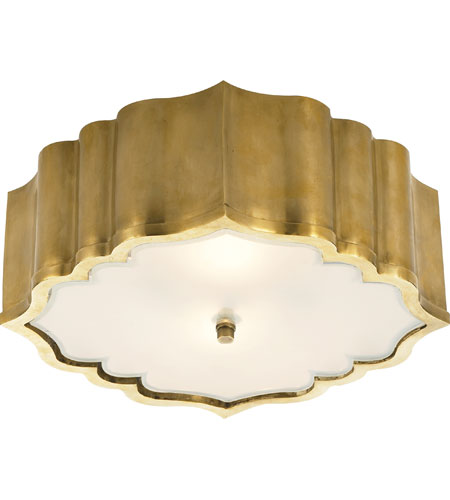 Visual Comfort AH4025NB-FG Alexa Hampton Balthazar 3 Light 14 inch Natural Brass Flush Mount Ceiling Light photo