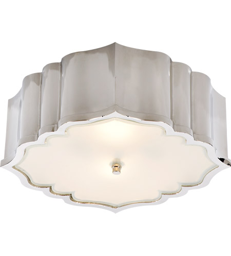 Visual Comfort AH4025PN-FG Alexa Hampton Balthazar 3 Light 14 inch Polished Nickel Flush Mount Ceiling Light photo