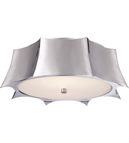 Visual Comfort AH4027PN-FG Alexa Hampton Peter 2 Light 16 inch Polished Nickel Flush Mount Ceiling Light photo