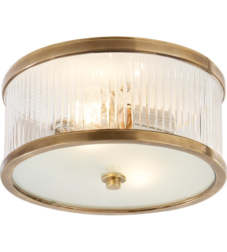 Visual Comfort AH4200HAB-FG Alexa Hampton Randolph 2 Light 11 inch Hand-Rubbed Antique Brass Flush Mount Ceiling Light photo