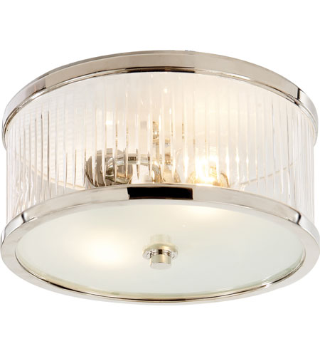 visual comfort ah4200pnfg alexa hampton randolph 2 light 11 inch polished nickel flush mount ceiling light