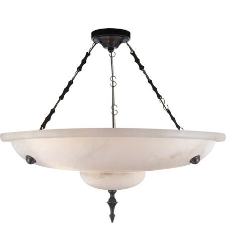 Visual Comfort AH5000ALB Alexa Hampton Charles 3 Light 14 inch Alabaster Natural Stone Chandelier Ceiling Light photo