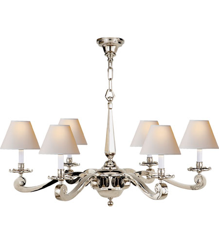 Visual Comfort AH5010PN-NP Alexa Hampton Myrna 6 Light 33 inch Polished Nickel Chandelier Ceiling Light photo