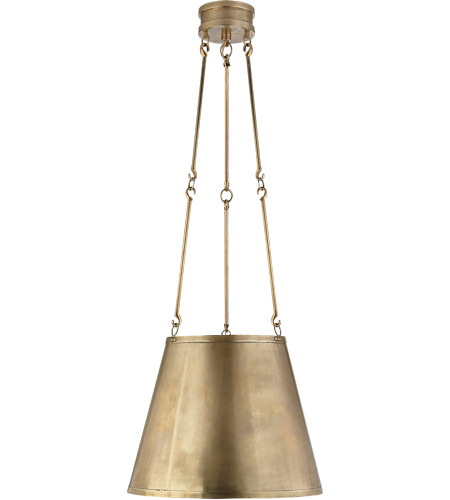 Visual Comfort AH5210NB Alexa Hampton Lily 3 Light 15 inch Natural Brass Hanging Shade Ceiling Light photo
