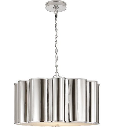 Visual Comfort Alexa Hampton Markos 2 Light Pendant in Polished Nickel AH5215PN