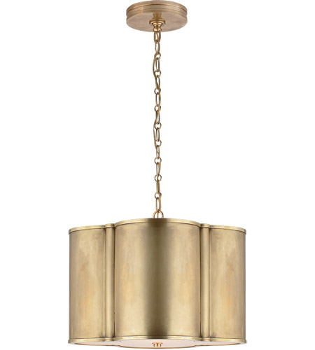 Visual Comfort AH5216NB Alexa Hampton Basil 2 Light 19 inch Natural Brass Hanging Shade Ceiling Light photo
