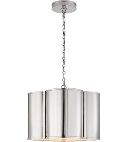 Visual Comfort AH5216PN Alexa Hampton Basil 2 Light 19 inch Polished Nickel Hanging Shade Ceiling Light photo